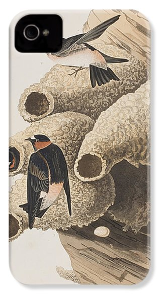 Republican Or Cliff Swallow IPhone 4 / 4s Case by John James Audubon