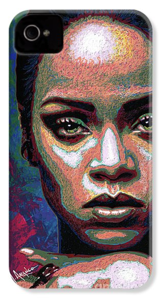 Rihanna IPhone 4 / 4s Case by Maria Arango