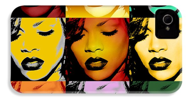 Rihanna Warhol By Gbs IPhone 4 / 4s Case by Anibal Diaz