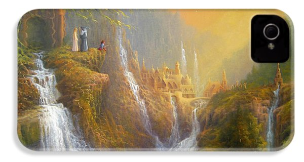 Rivendell Wisdom Of The Elves. IPhone 4 / 4s Case by Joe  Gilronan