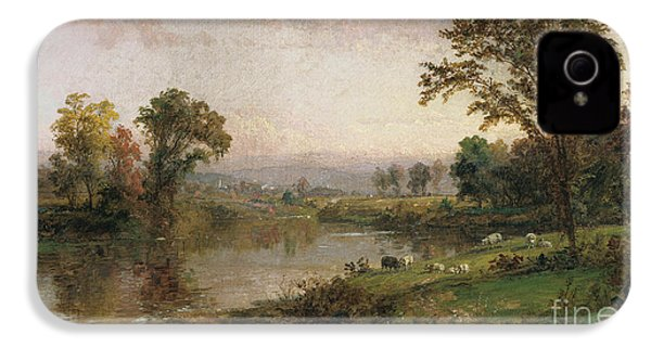 Riverscape In Early Autumn IPhone 4 / 4s Case by Jasper Francis Cropsey