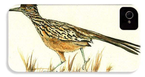 Roadrunner Bird IPhone 4 / 4s Case by Juan Bosco