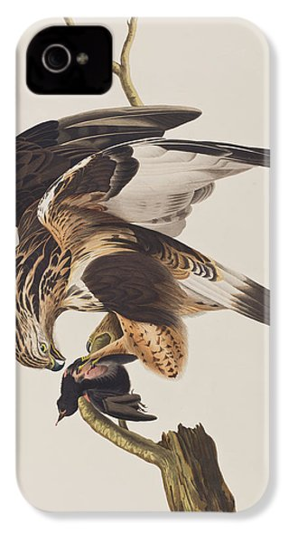 Rough Legged Falcon IPhone 4 / 4s Case by John James Audubon
