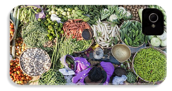 Rural Indian Vegetable Market IPhone 4 / 4s Case by Tim Gainey
