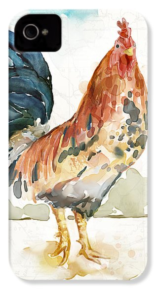 Rust Rooster IPhone 4 / 4s Case by Mauro DeVereaux