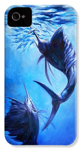 Sailfish And Ballyhoo IPhone 4 / 4s Case by Tom Dauria
