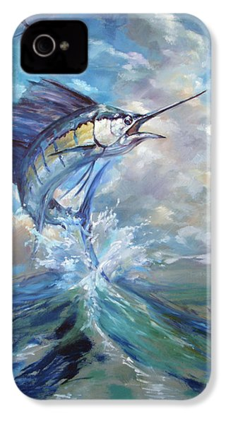 Sailfish And Frigate IPhone 4 / 4s Case by Tom Dauria