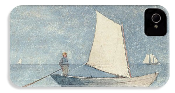 Sailing A Dory IPhone 4 / 4s Case by Winslow Homer