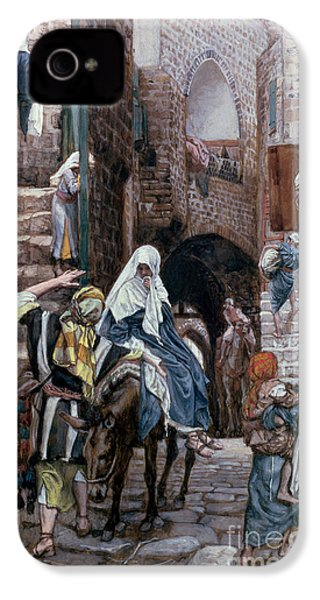Saint Joseph Seeks Lodging In Bethlehem IPhone 4 / 4s Case by Tissot