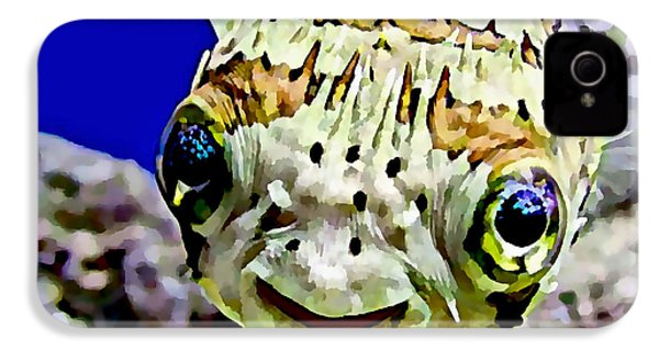 Saltwater Porcupinefish IPhone 4 / 4s Case by Marvin Blaine