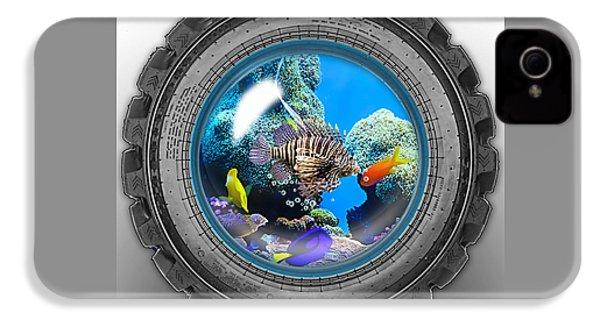 Saltwater Tire Aquarium IPhone 4 / 4s Case by Marvin Blaine