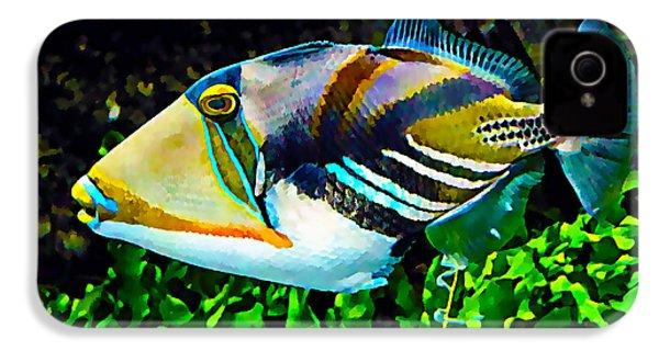 Saltwater Triggerfish IPhone 4 / 4s Case by Marvin Blaine
