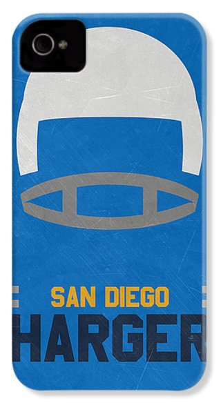 San Diego Chargers Vintage Art IPhone 4 / 4s Case by Joe Hamilton