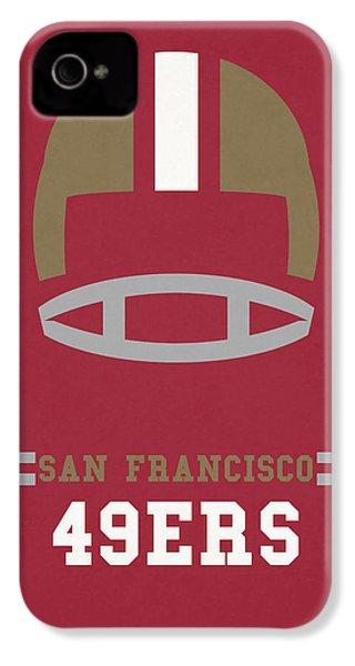 San Francisco 49ers Vintage Art IPhone 4 / 4s Case by Joe Hamilton