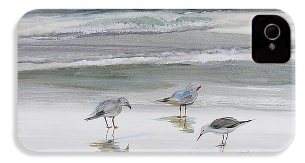Sandpipers IPhone 4 / 4s Case by Julianne Felton
