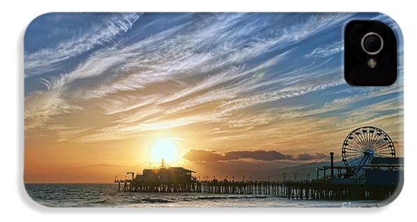 Santa Monica Pier IPhone 4 / 4s Case by Eddie Yerkish
