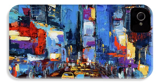 Saturday Night In Times Square IPhone 4 / 4s Case by Elise Palmigiani