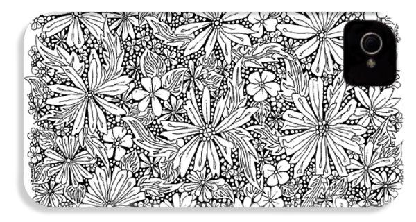Sea Of Flowers And Seeds At Night Horizontal IPhone 4 / 4s Case by Tamara Kulish