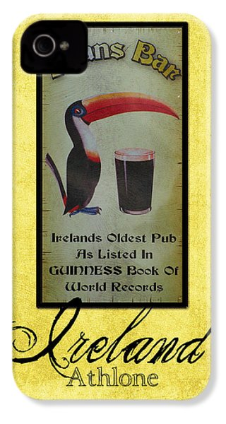 Seans Bar Guinness Pub Sign Athlone Ireland IPhone 4 / 4s Case by Teresa Mucha
