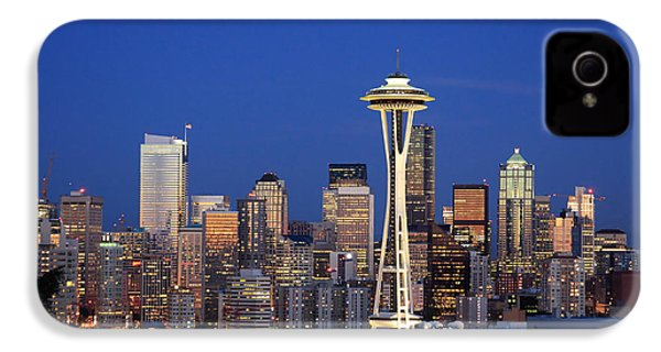 Seattle At Dusk IPhone 4 / 4s Case by Adam Romanowicz