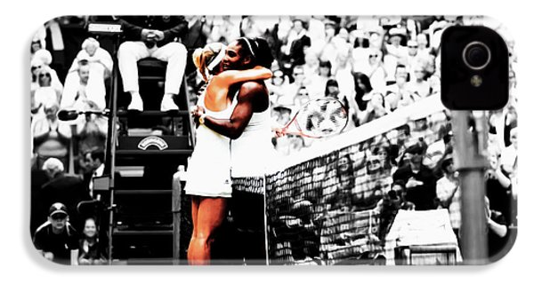 Serena Williams And Angelique Kerber 1a IPhone 4 / 4s Case by Brian Reaves