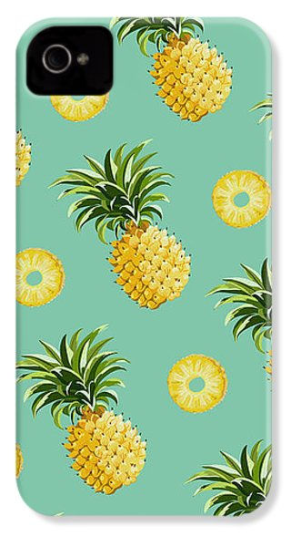 Set Of Pineapples IPhone 4 / 4s Case by Vitor Costa