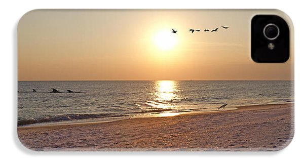 Shackleford Banks Sunset IPhone 4 / 4s Case by Betsy Knapp