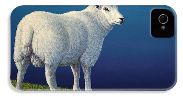 Sheep At The Edge IPhone 4 / 4s Case by James W Johnson