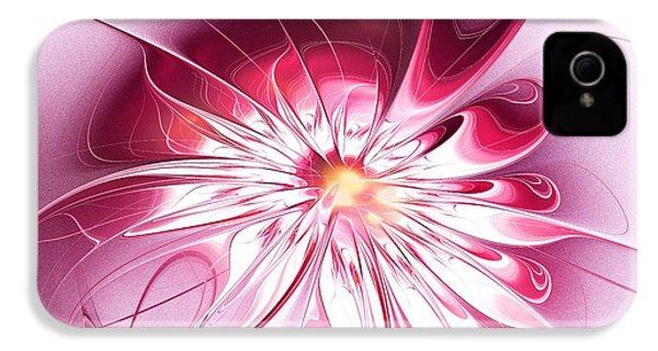 Shining Pink Flower IPhone 4 / 4s Case by Anastasiya Malakhova