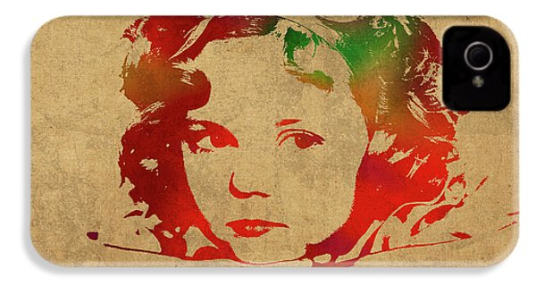Shirley Temple Watercolor Portrait IPhone 4 / 4s Case by Design Turnpike
