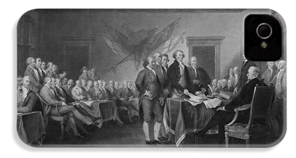 Signing The Declaration Of Independence IPhone 4 / 4s Case by War Is Hell Store
