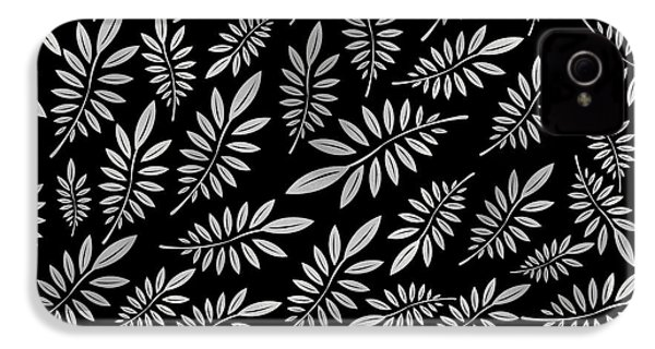 Silver Leaf Pattern 2 IPhone 4 / 4s Case by Stanley Wong
