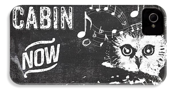 Singing Owl Cabin Rustic Sign IPhone 4 / 4s Case by Mindy Sommers