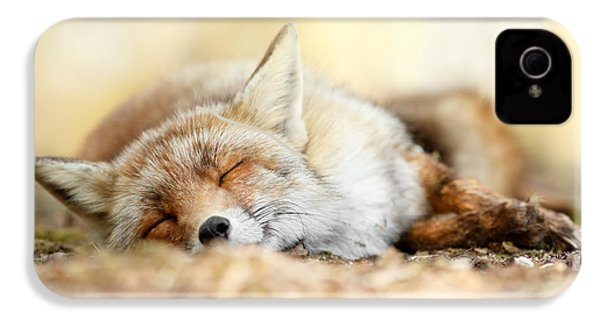 Sleeping Beauty -red Fox In Rest IPhone 4 / 4s Case by Roeselien Raimond