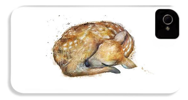 Sleeping Fawn IPhone 4 / 4s Case by Amy Hamilton