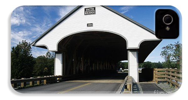 Smith Covered Bridge - Plymouth New Hampshire Usa IPhone 4 / 4s Case by Erin Paul Donovan