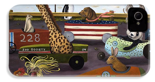 Soap Box Derby IPhone 4 / 4s Case by Leah Saulnier The Painting Maniac