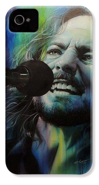 Eddie Vedder - ' Spectrum Of Vedder ' IPhone 4 / 4s Case by Christian Chapman Art