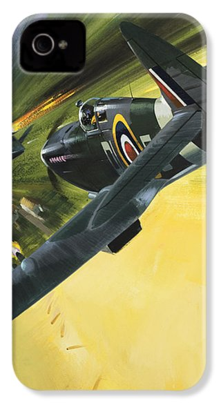 Spitfire And Doodle Bug IPhone 4 / 4s Case by Wilf Hardy