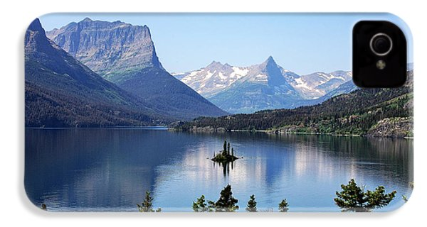 St Mary Lake - Glacier National Park Mt IPhone 4 / 4s Case by Christine Till