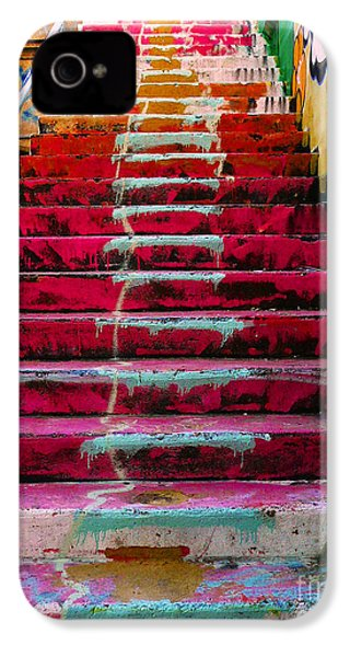 Stairs IPhone 4 / 4s Case by Angela Wright