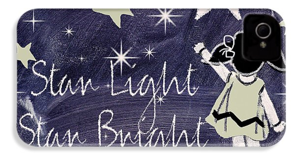 Star Light Star Bright Chalk Board Nursery Rhyme IPhone 4 / 4s Case by Mindy Sommers