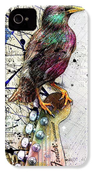 Starling On A Strat IPhone 4 / 4s Case by Gary Bodnar