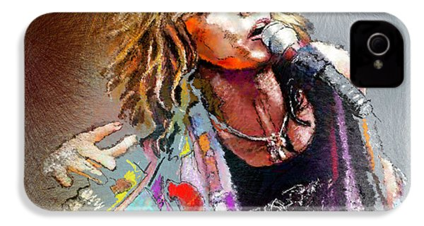 Steven Tyler 02  Aerosmith IPhone 4 / 4s Case by Miki De Goodaboom
