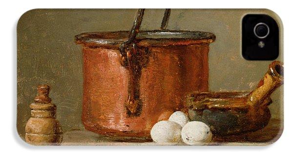 Still Life IPhone 4 / 4s Case by Jean-Baptiste Simeon Chardin