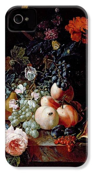 Still Life  IPhone 4 / 4s Case by Johann Amandus Winck