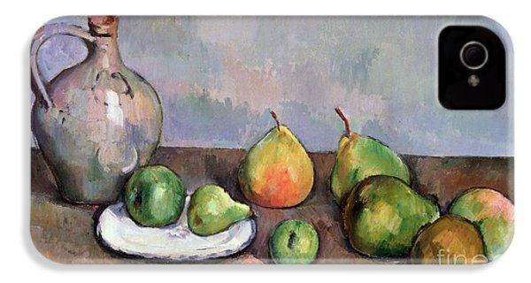 Still Life With Pitcher And Fruit IPhone 4 / 4s Case by Paul Cezanne