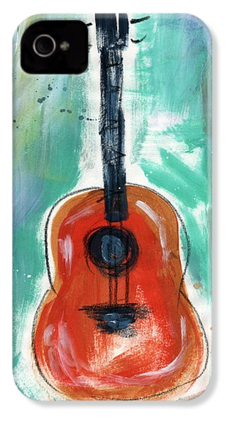 Storyteller's Guitar IPhone 4 / 4s Case by Linda Woods