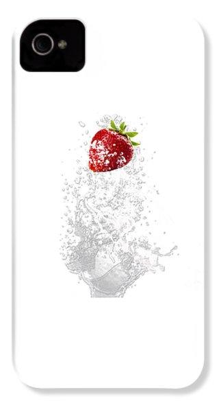 Strawberry Splash IPhone 4 / 4s Case by Marvin Blaine