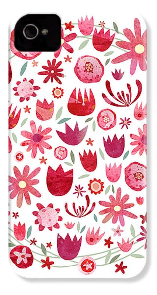 Summer Flower Circle IPhone 4 / 4s Case by Nic Squirrell